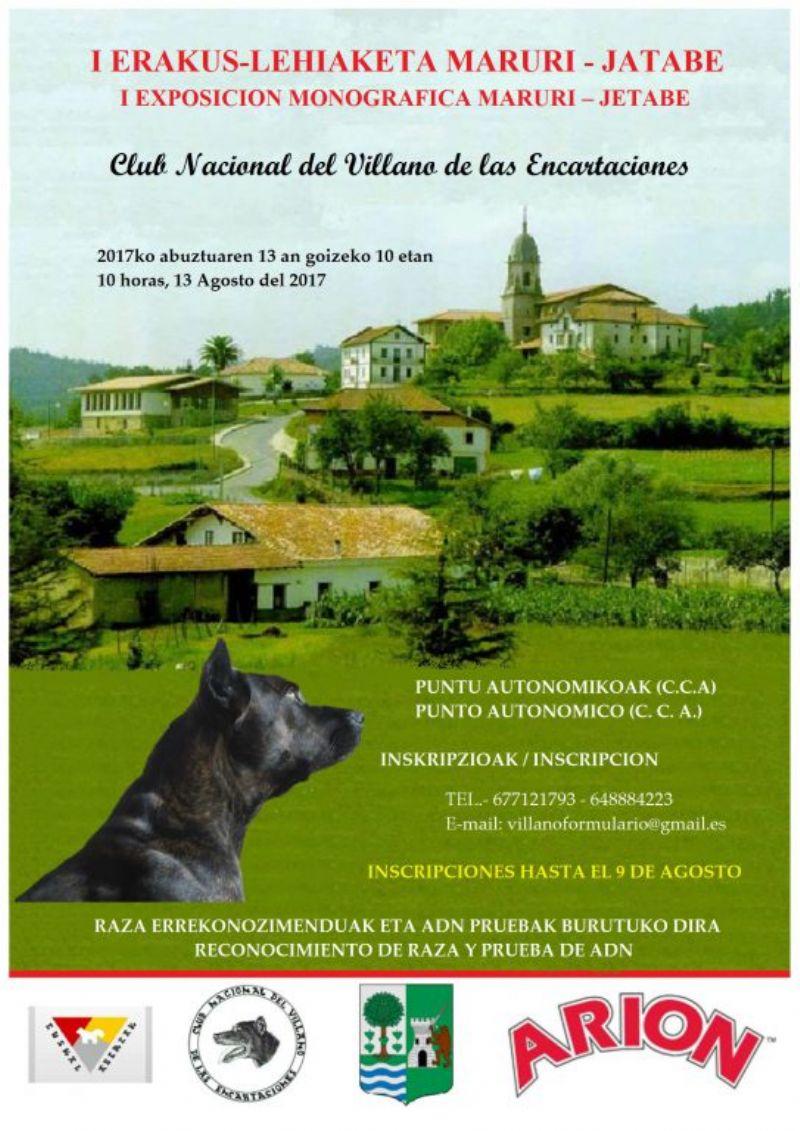 Cartel de I EXPOSICIÓN MONOGRÁFICA MARURI-JATABE