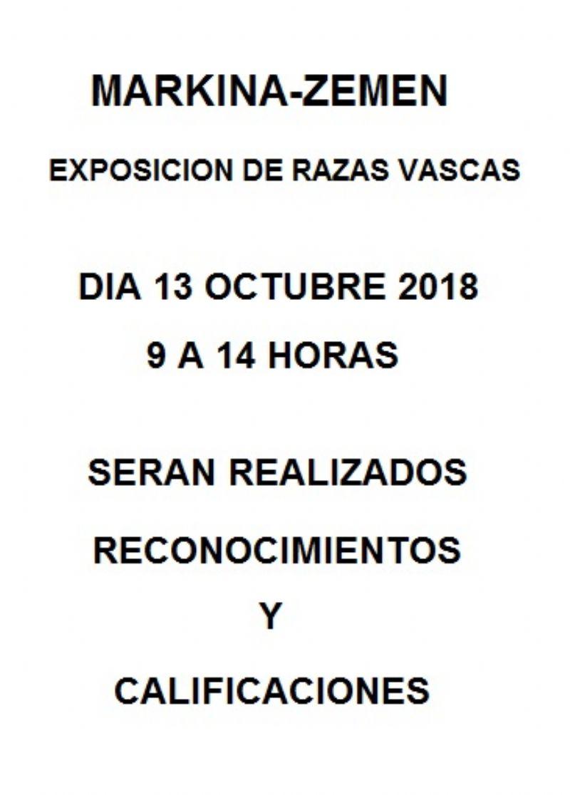 Cartel de EXPOSICION RAZAS VASCAS